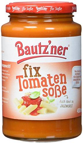 BAUTZ'NER Fix Tomatensoße, 6er Pack (6 x 400 ml) im Glas - fertige Tomaten-Soße