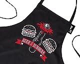 Nouveau Tablier de Cuisine/Barbecue drôle cadeau pour Hommes Bière & Hamburgers Noir Taille unique