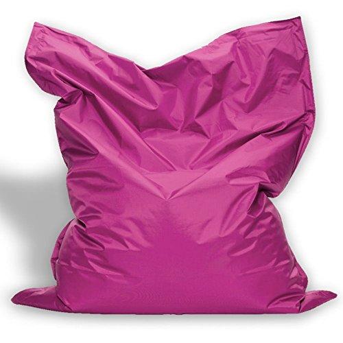 B58 Sitzkissen XL-XXXXL Sitzsack Bodenkissen Kissen Sack In-und Outdoor (XXXXL= 200 x 145, Pink)