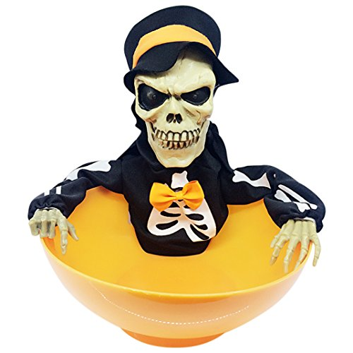 (Halloween Schale, halloween schale für süßigkeiten, Moon mood® Halloween Decoration - Halloween Candy Skull Light Sensor Decoration Ghost Terror Fear Haunted House Toy Housekeeping Bar Open Air Outdoor Party)