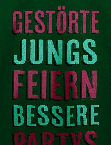 Gestoerte Jungs Feiern Bessere Partys Herren T-Shirt Dunkel Grün