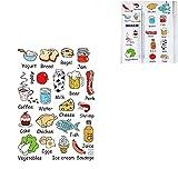 Romote refrigerador de Cocina Pegatinas Decorativas Food Fruit Pared Etiqueta engomada desprendible