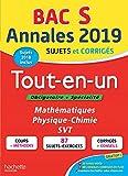 Annales Bac 2019 Tout-en-un Terminale S...