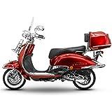 Retro Roller Easy Cruiser Chrom 50 ccm weinrot Motorroller Scooter Moped Mofa Easycruiser rot