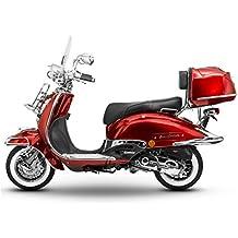 Retro Roller Easy Cruiser Chrom 125 ccm weinrot Motorroller Scooter Moped Mofa Easycruiser rot