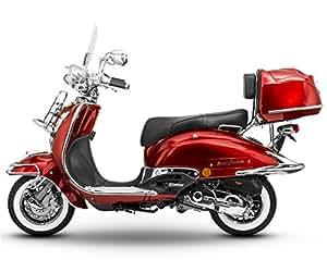 retro roller easy cruiser chrom 50 ccm weinrot motorroller. Black Bedroom Furniture Sets. Home Design Ideas
