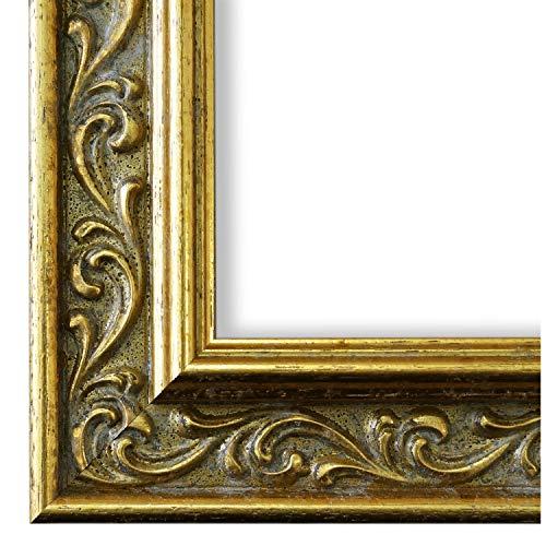 Bilderrahmen Verona 558P-ORO Gold 4,4 - WRU - 15 x 20 cm - wählen Sie aus über 500 Varianten - alle Größen - Antik, Barock, Landhaus, Shabby, Verziert - Fotorahmen Urkundenrahmen Posterrahmen