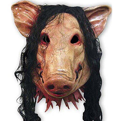 Samgoo Halloween Horror Furchterregender Pig Kunsthaar maske