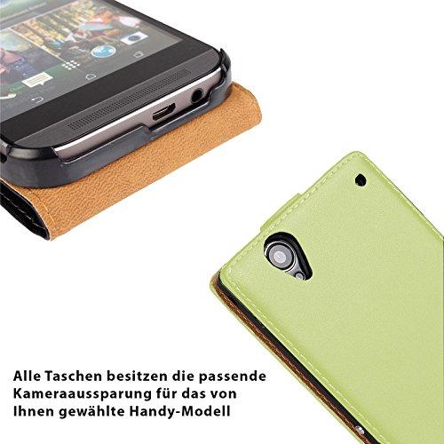 EximMobile - Flip Case Handytasche + Panzerglasfolie für Apple iPhone 5C | Schutzhülle in Gelb | Handyhülle aus PU-Leder Tasche | Cover Etui Hülle mit Panzerglas Schutzfolie Panzerfolie Grün