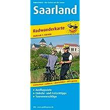 Saarland: Radwanderkarte mit Ausflugszielen, Einkehr- & Freizeittipps, wetterfest, reissfest, abwischbar, GPS-genau. 1:100000 (Radkarte / RK)