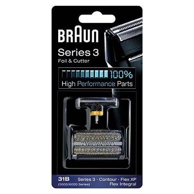 31B BRAUN 5000/6000 Series Contour Flex XP Integral Shaver Foil & Cutter Head Replacement Combi Pack Black from BRAUN