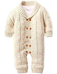 Amlaiworld Recién nacidos bebé mamelucos Mono jersey de punto grueso