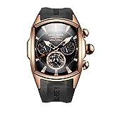 REEF TIGER Herren Uhr analog Automatik mit Kautschuk Armband RGA3069
