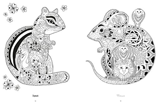 Color Yourself to Calmness: And Reduce Stress with Your Animal Spirits (Adult Coloring Books)
