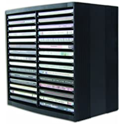 Fellowes 9823102 CD-Regal mit Federmechanik schwarz