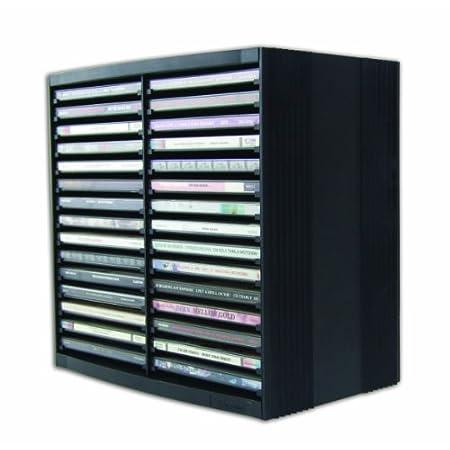 Fellowes CD Aufbewahrung, CD Turm mit Selbstauswurf-System, horizontal und vertikal nutzbar, für 30 + 18 CDs, Farbe…