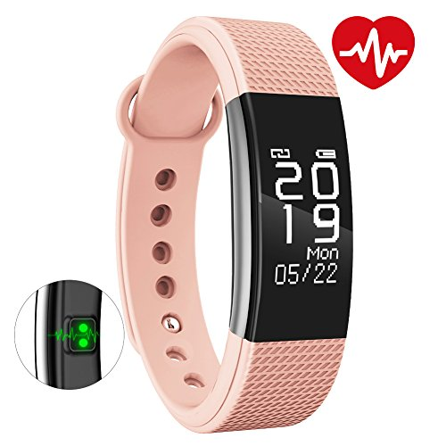 BINGO F1 Waterproof Smart Band With Heart Rate Monitoring And Many More Impressive Features With All Anroid And IOS Device (Pink)
