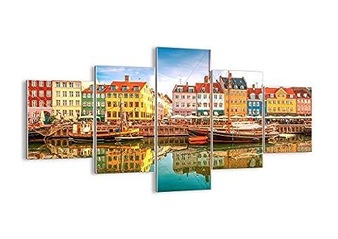 Glass Picture - Glass Print - 5 Piece - Width: 125cm, Height: 70cm (Width 49,2
