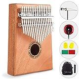 Vangoa Kalimba 17 Keys African Thumb Piano kit with Rubber Finger Guards, Tuning