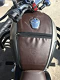 #7: Sahara Gun Metal Coffee Brown Tank Cover Only For Royal Enfield Classic 350/500
