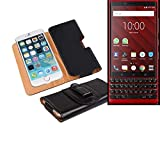 K-S-Trade® Artificial Leather Belt Bag For Blackberry KEY2