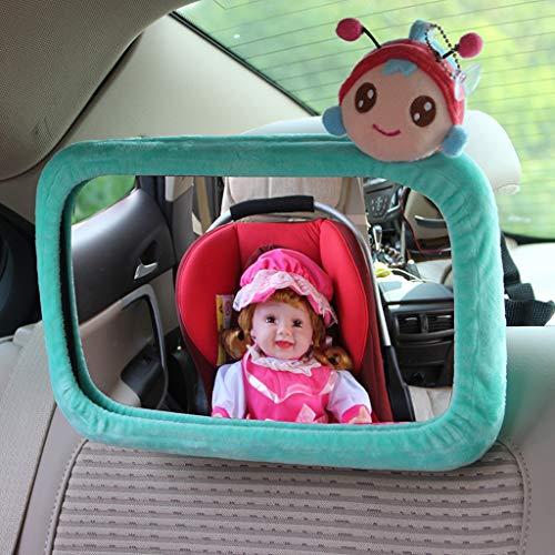Baby Car Mirror by - Rückansicht Rücksitz Spiegel für Babys und Kleinkinder in Autositzen - Weitwinkel mit bruchsicherem Glas - Crash Tested für Sicherheit - Bonus Visier Clip (Farbe : F)