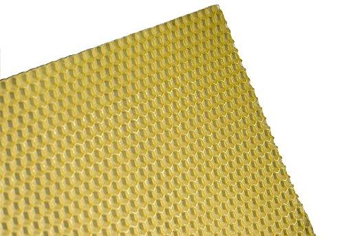 2,5 kg Zander Mittelwände aus 100% reinem Bienenwachs Zandermaß 395 x 195 mm Mittelwand