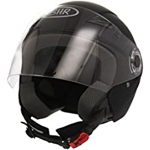BHR 49859 Demi-Jet Casco, Color Negro Mate, Talla M, 57-