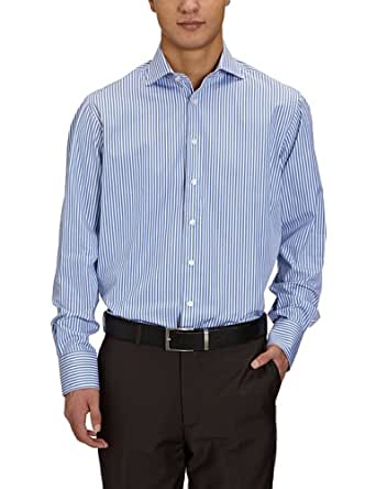 Arrow Herren Businesshemd Regular Fit, gestreift CL00321D89 / DEVON REG FIT SC, Gr. 39, Blau (064 DARK BLUE)
