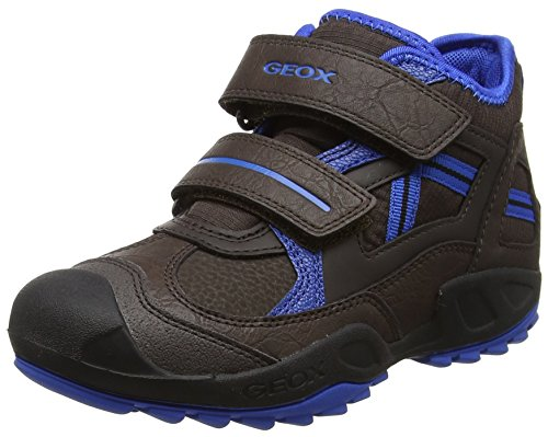 Geox Jungen J New Savage Boy B Hohe Sneaker, Braun (Coffee/Royal), 37 EU