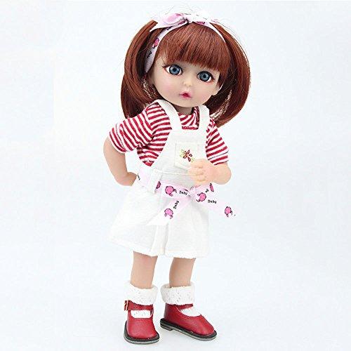 JHGFRT Simulation Reborn Puppe Silikon Mini Kann Stehen Kinder Können Das Wasser Spielen Baby Kreative Geschenk 25cm,Girl