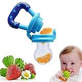 Demarkt Baby Schnuller Beruhigungssauger Fruchtsauger Sicher Knabber Fütterung Werkzeug aus Silikon 2.9*10.4cm Blau