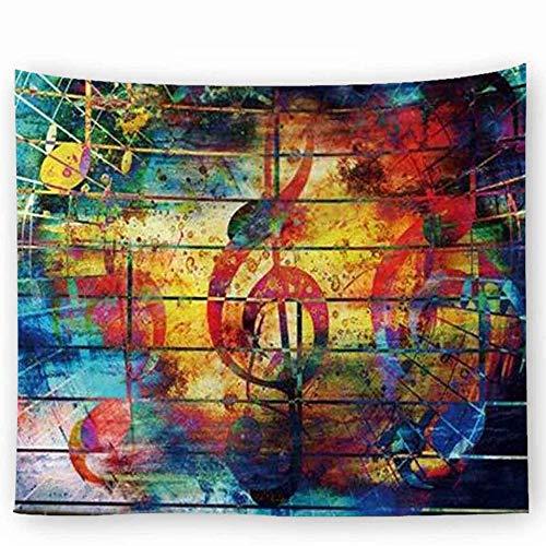 Ljfyxz arazzo panno appeso arazzo musicale decorazione murale tovaglia cuscino del divano telo mare dormitorio camera da letto una varietà di stili (colore : b, dimensioni : 150x200cm)