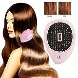 Spazzola per capelli ionica elettrica portatile, mini pettine per spazzola per capelli, spazzola per capelli massaggiatore elettrico, spazzola per pettine per massaggio con vibrazione (rosa)