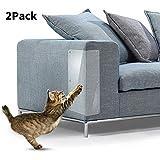 sunnymi 2pcs Pet Cat Scratch Guard Tapis Arbre à Chat Meubles Canapé Anti-Grab Stickers Protector, PVC, Claire, 2Pcs