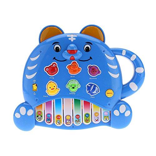 Andoer® Educationale Mini Piano Electone Musica i per Bambini Giocattoli del Regalo dei Bambini del Fumetto della Tigre del Giocattolo di Colore Consegna Casuale