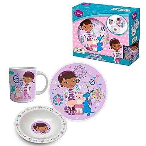 Docteur La Peluche - 3 pièces en céramique de vaisselle - set de petit déjeuner