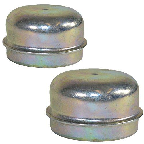 2 Der Ersatz von 50mm Metall Staubschutzkappe Radnabe Anhänger Abdeckung