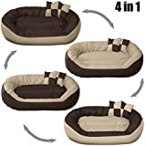 """PetsMaker"""" Deluxe Pet Bed For Dogs And Cats Velvet Ultra-Soft Plush Solid Pet Sleepeer -Small"""