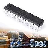 XCSOURCE® 5Pcs Micro Régulateur 8-Bit Atmega328P-PU Microcontrôleur Atmel avec Chargeur d'Amorçage TE206