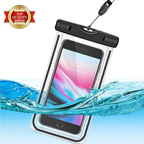 GH-Ghawk Universelle wasserdichte Handy Tasche, Große wasserdichte Handy Hülle Unterwasser Dry Bag für Samsung Galaxy J3 Prime, Weiche TPU-Tasche für alle Mobiltelefone bis 6,5