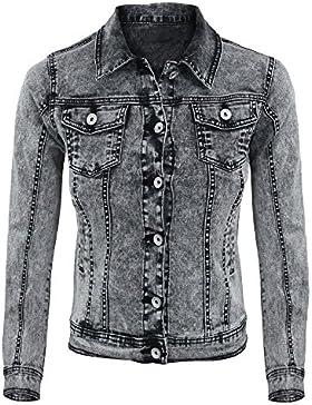 Girogama, chaleco corto Jeans Casual desgastado–Mujer 4295GB