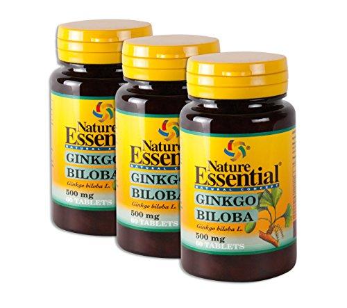 Ginkgo Biloba -  500mg Ginkgo Extrakt und Ginkgo Pulver - Das günstigste hochdosierte Premium Ginkgo auf dem Markt (insg. 180 Tabletten = 3 Monats-Pack) -