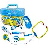 E Support Großer Doktorkoffer Spielzeug Arztkoffer mit Zubehoer 8-Teilig für Kinder