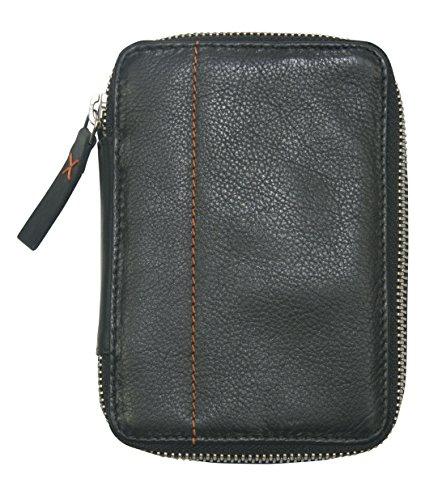 diabag ONE mini Leder Diabetiker Etui , 10 x 14.5 x 3 cm, Schwarz