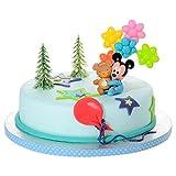Tortendeko Micky Mouse Baby 4 teiligTortenaufleger 1 Geburtstag Kindergeburtstag Kuchen Deko