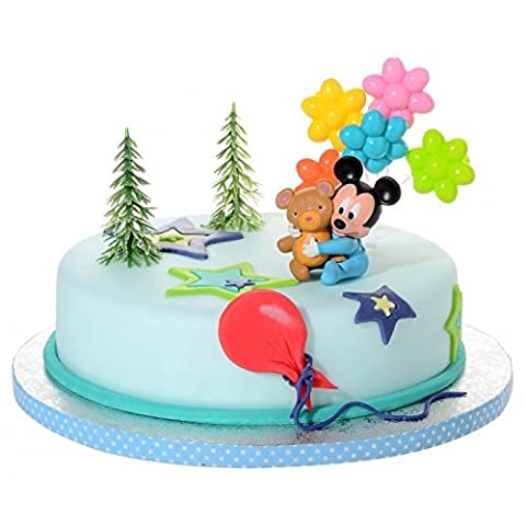 Tortendeko Micky Mouse Baby 4 teiligTortenaufleger 1 Geburtstag Kindergeburtstag Kuchen Deko (1 Kindergeburtstag)