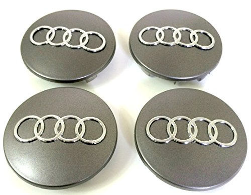 Set of Four Alloy Wheels Centre Hub Caps Grey Cover Badge 68 mm 8d0 601 170