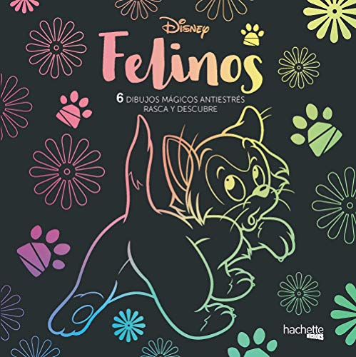 Arteterapia. Felinos Disney. 6 dibujos mágicos (Hachette Heroes - Disney - Especializados)