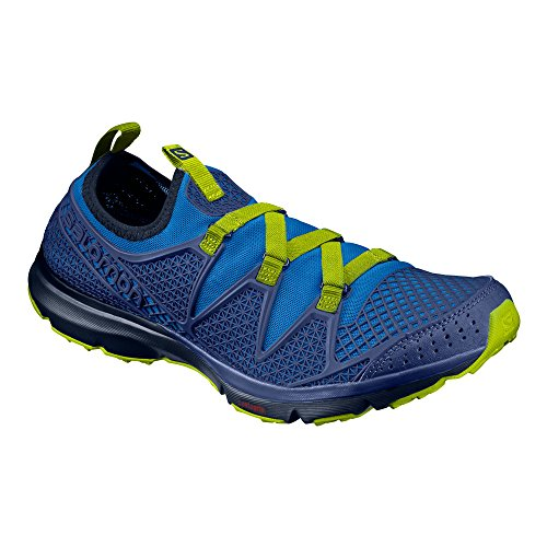 Salomon Herren Crossamphibian Traillaufschuhe, Blau (Marineblau/Blue Depths/Lime Punch.), 48 EU